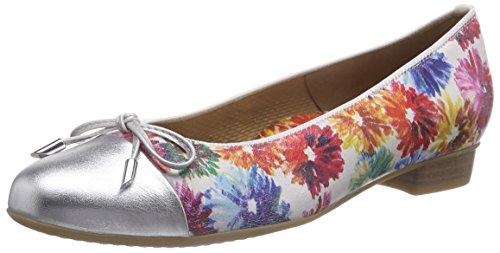 Ara - Bari, Ballerine Donna Multicolore (Mehrfarbig (silber,multi 06))