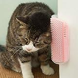 Bloomma Cat Self Groomer Pettine per l'angolo della Parete Pettine aggiornato Gomma Morbida Setole Gattino Massaggiatore Spazzola Giocattolo Adatto per Gabbia angolare a Parete Piatta e Presa a Mano