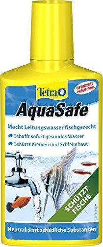 Tetra AquaSafe (Qualitäts-Wasseraufbereiter für fischgerechtes und naturnahes Aquariumwasser, neutralisiert fischschädliche Stoffe im Leitungswasser), 250 ml Flasche