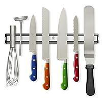 Salvaspazio, organizzate & aumentate la sicurezza nella Vostra cucina con questo potente portacoltelli magnetico!  Ne avete abbastanza dei coltelli lasciati in modo pericoloso in un cassetto? Volete salvare spazio e migliorare l'aspetto ...
