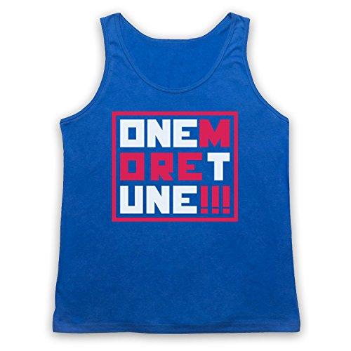 One More Tune Retro Gig Camiseta de Tirantes, Azul Real, Small