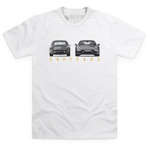 Nine Eleven Evolution T-Shirt, Herren, Wei, - Porsche Design Zeigt