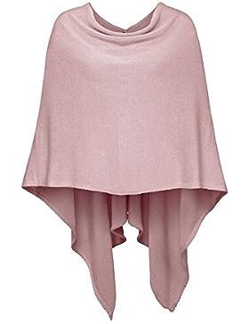 Poncho-Schal aus Baumwolle - Hochwertiges Cape für Damen - XXL Umhängetuch und Tunika - Strick-Pullover - Sweatshirt...
