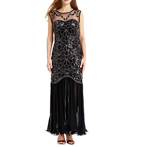 Kleider Pailletten Retro 1920er Jahre Stil V-Ausschnitt Great Gatsby Motto Party Damen Kostüm KleidDamen Voller Pailletten Spitze Party Damen Kostüm Kleid ()