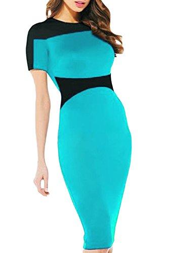 E-Girl femme Bleu SY6409-2 robe de cocktail Bleu