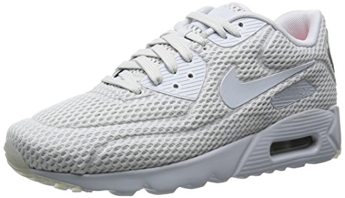 Nike Mens Air Max 90 Ultra Breathe Mesh Trainers Platine