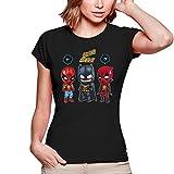 T-Shirts Femmes Avengers parodique Batman, Deadpool et Spider-Man : Un léger problème de Conception au Niveau du Masque. (Parodie Avengers)