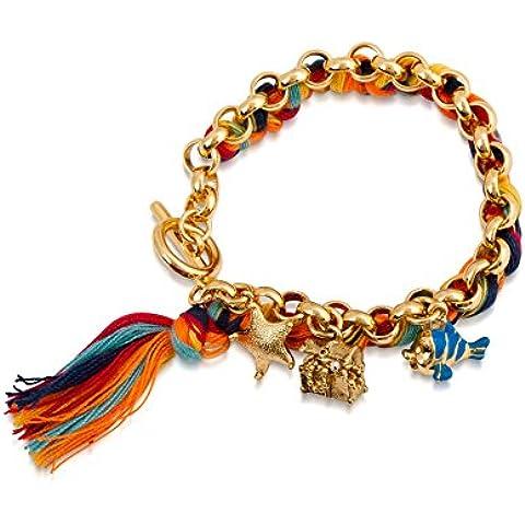 Disney Couture-Collana placcata in oro, lunghezza di Flounder de