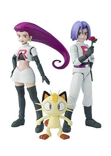 Rocket Team Kostüm Pokemon - Bandai S. H. Figuarts Pokemon Team Rocket ABS PVC Figure 140mm