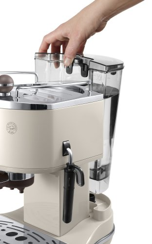 De'Longhi Vintage Icona Traditional Barista Pump Espresso Machine, Coffee and Cappuccino Maker, ECOV311BG, Cream