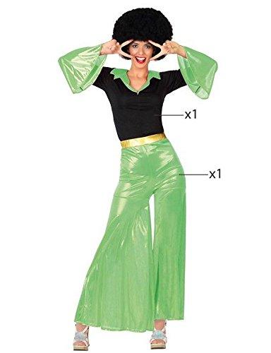 ATOSA 26397 - Disco Fieber, grün, Damenkostüm, Größe 42/44, schwarz/grün (Disco Fieber Erwachsene Kostüme)