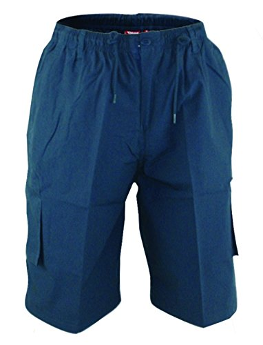 Duke Herren 's großes Cargo Shorts mit geformtes Bein Taschen Marineblau