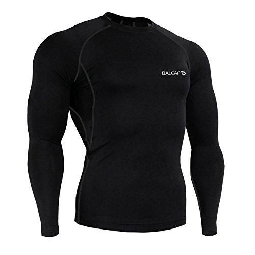 Baleaf Herren Cool Kompressionsshirt Langarm Fitness Base Layer Running Shirt Rashguard -