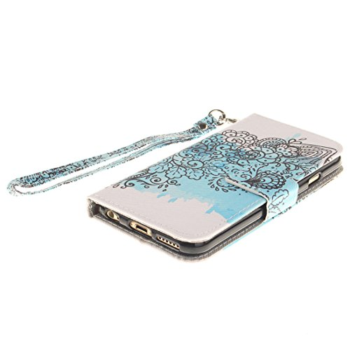 "Apple iPhone 6S Coque Cuir Portefeuille, iPhone 6 Case, Etui iPhone 6 4.7"" Rabat Style Flexible PU Joli Original Peinture - Don't Touch My Phone Gris"