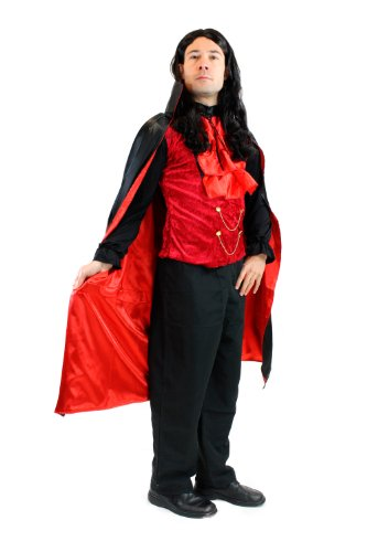 DRESS ME UP Kostüm Herren Herrenkostüm Dracula Vampir Dunker Graf Barock Mittelalter L061