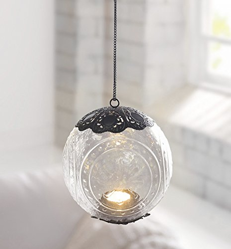Hanging Glass Plant Flower Vase Bauble Tea Light Candle Holder Clear (1 X Metal And Glass)