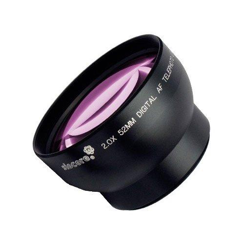 SIOCORE 2.0x TELE KONVERTER für z.B. ROLLEI DK4010 , SONY VX1000 oder JVC GR-DV4000E und weitere Camcorder und Kameras mit 52mm Filtergewinde