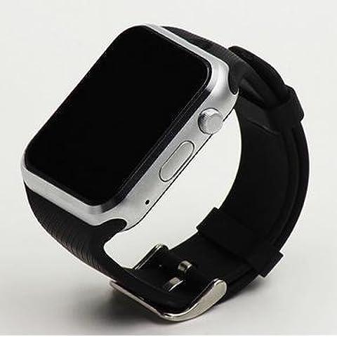 Smartwatch Aleación de aluminio de zinc A108 HD plana llamada comunicaciones Bluetooth GPS posicionamiento y robo-contra sueño monitoreo de niños usando equipo reloj inteligente , black