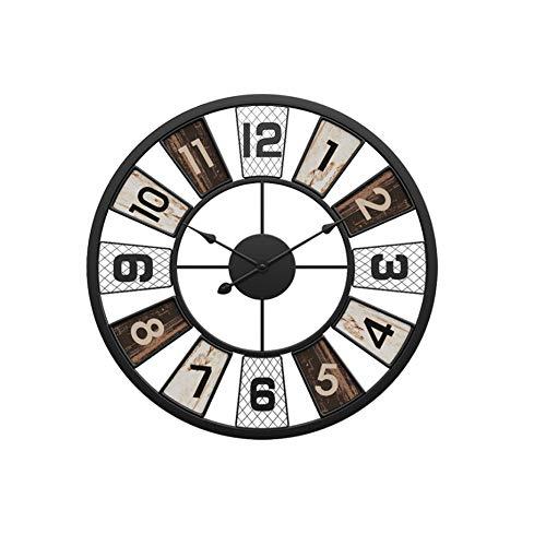 Yxmxxm orologio da parete in metallo muto grande da 20