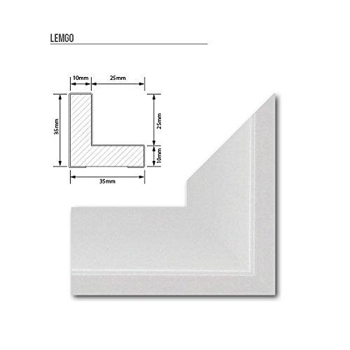 Schattenfugen - Rahmen LEMGO 70x100cm Weiß (matt) - 7 Farben 73 Formate Massivholz