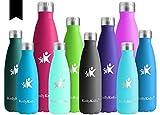 KollyKolla Vakuum Isolierte Edelstahl Trinkflasche, 750ml BPA Frei Wasserflasche Auslaufsicher, Thermosflasche für Sport, Outdoor, Fitness, Kinder, Schule, Kleinkinder,...