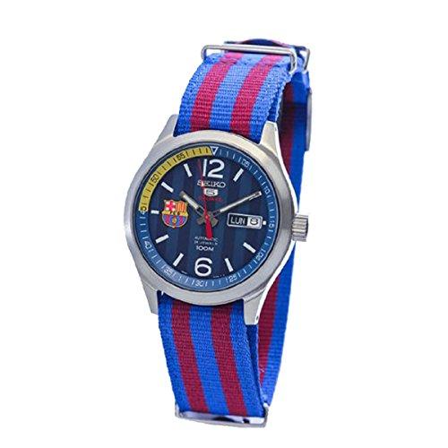 Seiko Deporte Militar Correa azul y rojo, el FC Barcelona Reloj SRP303J1 (Made in Japan)