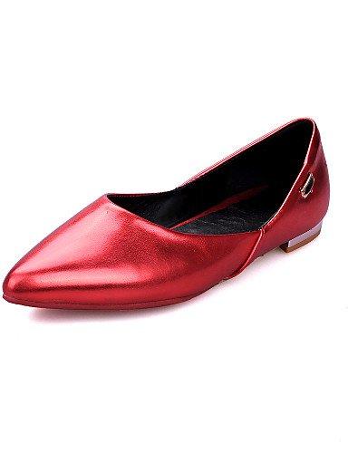 WSS 2016 Chaussures Femme-Habillé / Décontracté-Rouge / Blanc / Or-Talon Bas-Talons / Bout Pointu-Talons-Similicuir white-us7.5 / eu38 / uk5.5 / cn38