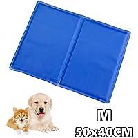 PAATO™ Premium Kühlmatte für Hunde, Katzen, Haustiere, Kühldecke, Kühlkissen/Kühlpad, selbstkühlend I 50x40 cm I Farbe: blau