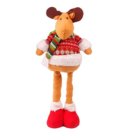 SSXY einziehbare Puppe Weihnachten Schneemann Elch Weihnachtsmann Hirsch schöne Figur Geschenk -