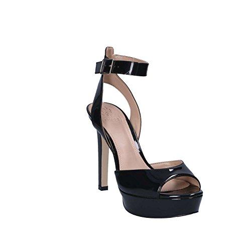 Sandalia De Tacón Negro Guess Flct21 Paf03 Para Mujer