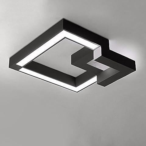GZ Deckenleuchten Acryl minimalistischen modernen Wohnzimmer helle Zimmer Schlafzimmer Lampe Nordic Lampen, 61 cm Schwarz Weiß Led