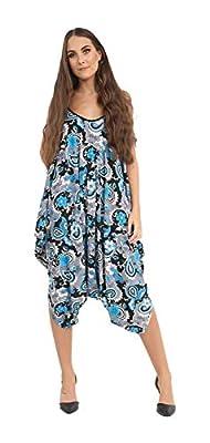 9959a124593 New Ladies Cami Lagenlook Romper Loose Harem Jumpsuit Playsuit Dress Plus  Size