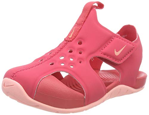 Nike Unisex Baby Sunray Protect 2 (td) Durchgängies Plateau Sandalen Mehrfarbig (Tropical Pink/Bleach 600) 17 EU (Für Nike Spandex Mädchen)