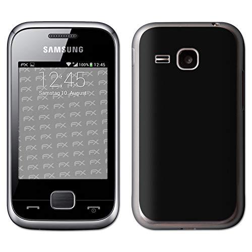 atFolix Skin kompatibel mit Samsung Champ Deluxe C3310, Designfolie Sticker (FX-Velvet-Black), Matte Oberfläche
