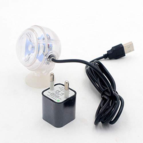 Kleine Größe Aquarium Wasserdichte LED Spotlight Tauchlicht Konvexe Objektiv Saugnapf Aquarium Dekorative Licht - Bunte