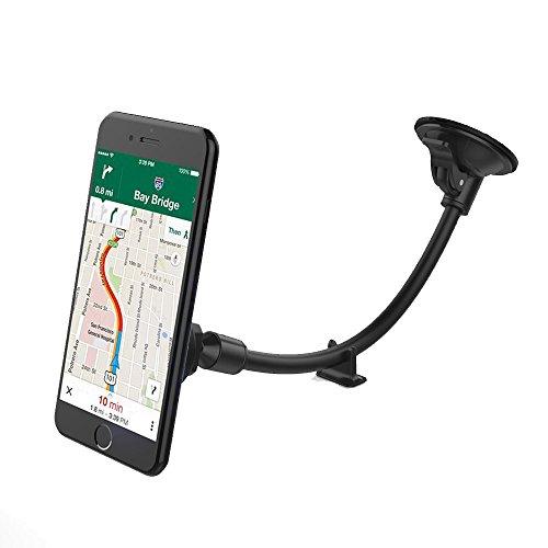 Support Voiture Smartphone vAVA Porte Téléphone Portable Voiture avec Bras Long et Base pour Tableau de Bord, Support magnétique et Joint Rotatif à 360o pour Tous Les Smartphone