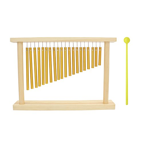 ammoon-20-tone-table-top-bar-chimes-20-bars-single-row-musical-percussion-instrument-with-wood-stand