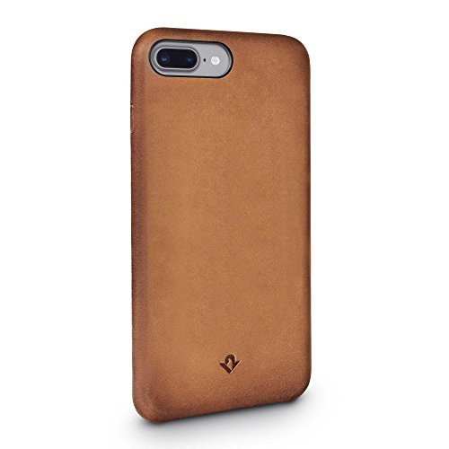 Twelve South Relaxed Leather Hülle, cognac | Handgefertigter lederüberzogener Klip, für iPhone 8 Plus & iPhone 7 Plus Burnished Cognac