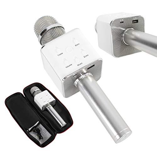 JeVx Microfono Karaoke con Bluetooth 6W de Potencia Con Funda Doble Altavoz...
