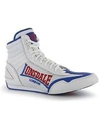 Lonsdale Contender boxe basse bottes - blanc-bleu