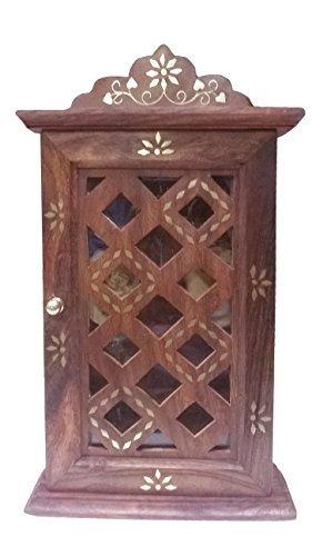 Stylla London spécial Père de jour Cadeau Armoire à clés avec panneau de porte immatriculation Design, bois, marron, 11.5 x 6.85 x 2.76 cm
