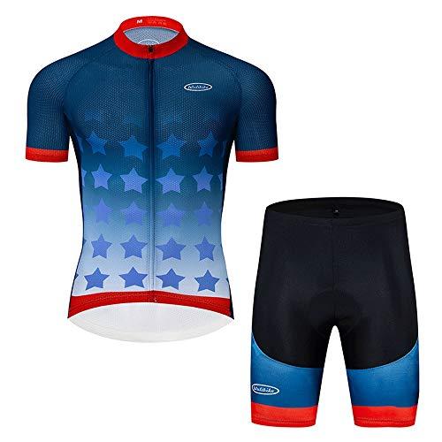 WANSE Sommer-Silikon-Shorts Trägerhose Freizeit Hochelastische perforierte Schwammhose Italienischer Stoff Silikon-gepolsterte Shorts reflektierendes kurzärmeliges T-Shirt elastische Feuchtigkeitstran -