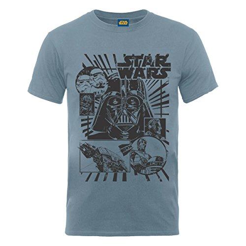 Star Wars - T-shirt, Uomo, Steel Blue, L