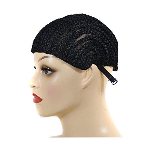 Amcool Schwarze Perücke Cap für die Herstellung von Braid synthetische ()