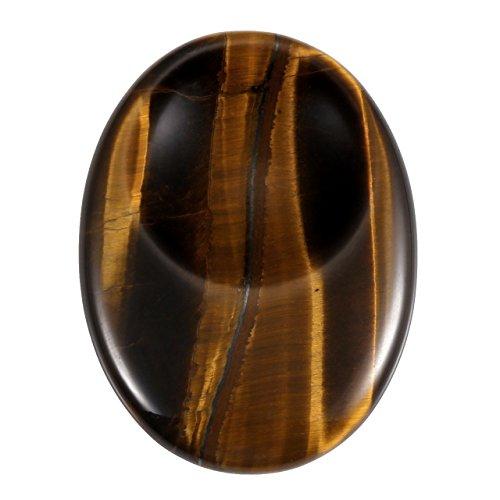 JOVIVI Edelstein Deko Oval Konkav Form Worry Stone Trommelsteine Handschmeichler Fengshui Reiki Heailing Stein Dekoration/Tigerauge