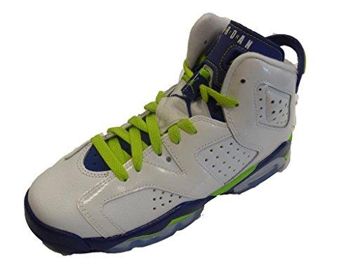 Nike Air Jordan 6 Retro GG, Zapatillas de Running Niñas, Blanco/Verde/