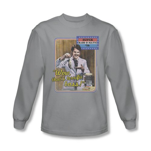 Saturday Night Live - Herren Bass O Matic 76 Langarm-Shirt in Silber Silver