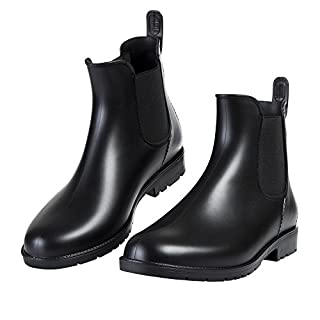 Asgard Women's Short Rain Boots Waterproof Ankle Chelsea Booties B37