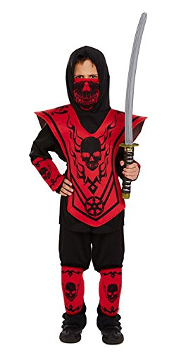 Kinder Ninja Kostüm Outfit - Ages 4-12 Years -