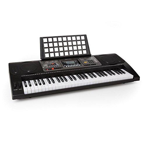 Schubert Etude 450 Keyboard elektrisches Klavier (61 Tasten, Leuchttasten, Anschlagdynamik, Aufnahme- und Playback-Funktion, 3 Lernmodi, AUX, USB-MIDI, 65 Demo-Songs) schwarz